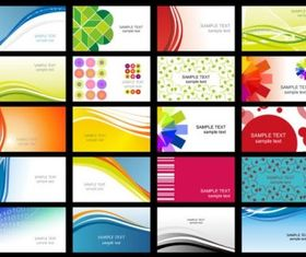 flower line business card templates art vector
