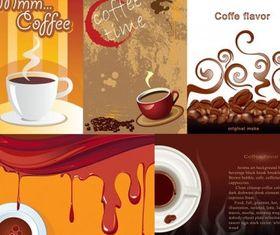 aromatic coffee theme vector graphics