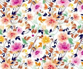 Flowers Pattern Background Vector vector