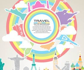 Travel Shiny Backgrounds vectors graphics