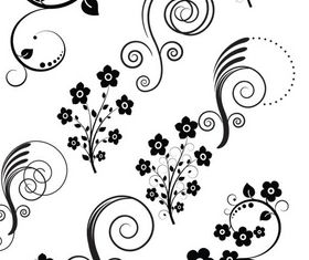 Ornate Floral Elements vector set