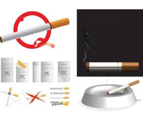 Cigarette theme vector design