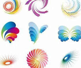 Abstract wave icons creative vector
