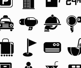 Silhouette Travel Icons vector set