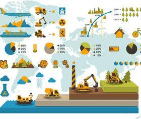 Industrial Infographics set vectors