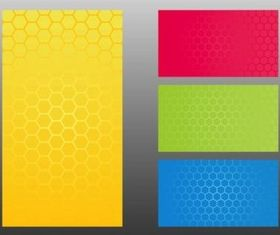 Honeycomb Patterns colorful vector