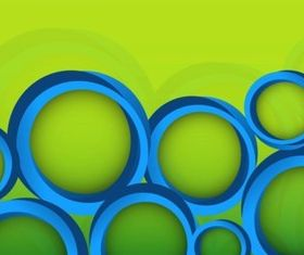 Decorative Circles with green background vector