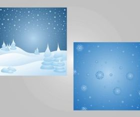 Winter Backgrounds vector graphics