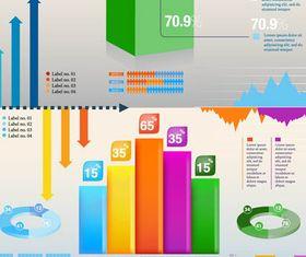 3D Infographics Elements vector graphic