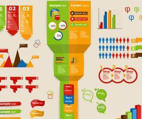 Color Infographics Elements art vector