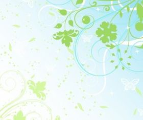 Spring Background free vectors material