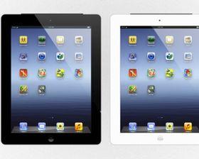 apple ipad 3 tablet mockup vector