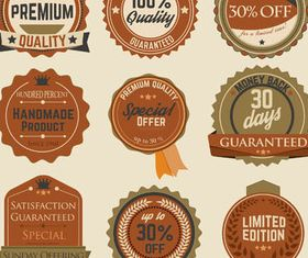 Retro Labels and Tags vector