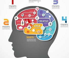 Infographics with Heads design vectors