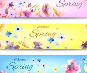 Spring banner with flower vector