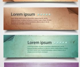 Dirty paper banner Free vector