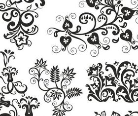 Ornamental Floral Elements 15 vector