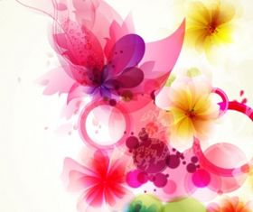Shiny colorful flower background 3 vector