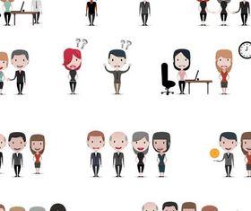 Cartoon Business People 9 vector