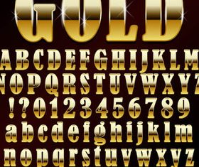 Stylish Gold Alphabets vector