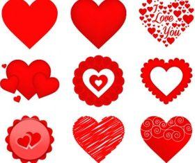 valentine heart icons Free vectors graphic
