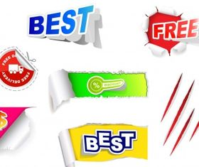 Paper tags Free vector
