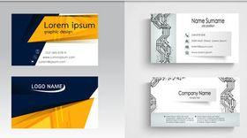 Business Cards Set 16 vectors material