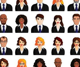 Colored People Avatars 13 design vector