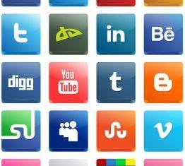 3d social mediicon vector
