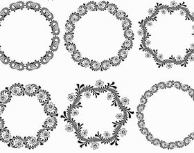 Circle Ornamental Frames 2 vector graphics