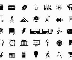 Education Black Icons vectors