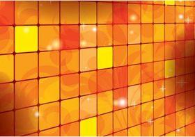 Orange Square Background vector