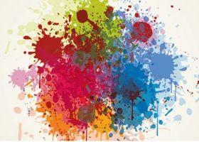 Splashed Colours Grunge vector