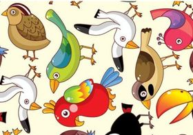 Funny Birds Pattern Free vector