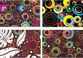 Colourful Circle Patterns vector set