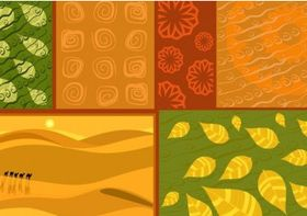 African Ornaments Backgrounds vector design