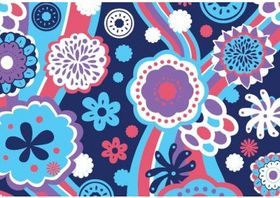 Blue Floral Pattern Free vector
