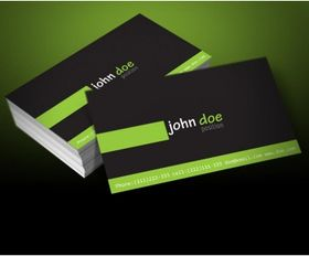 personal business card template vector graphics