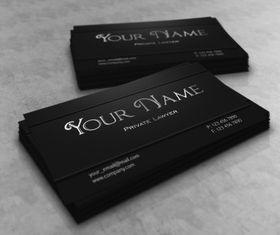 Dark lawyer business card vector