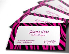 pink and black zebrbusiness card vector design