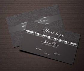 Dark jewelry business card vectors