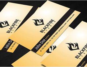 Blackfire business card set vector