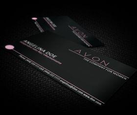 Black avon business card vector