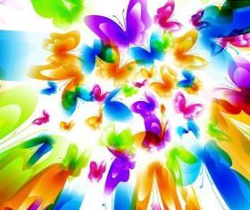 Colorful butterfly pattern 04 vector design