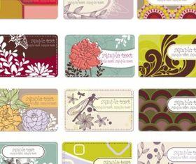 elegant Background flower pattern cards 01 vector graphics