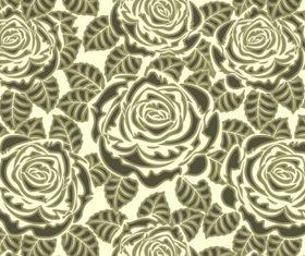 Rose pattern background 01 vector