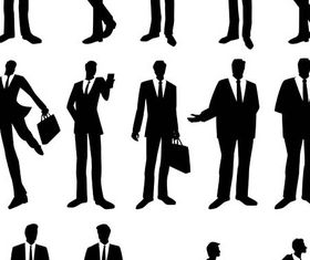 Silhouettes Business People 5 creative vector