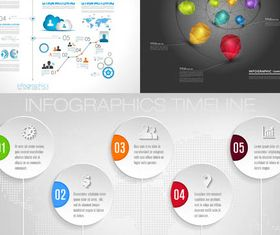 Timeline Infographics 6 vector
