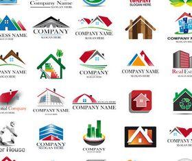 Real Estate Logo Set 15 vector