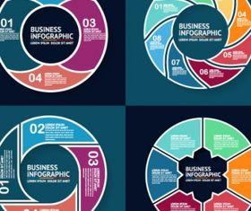 Circle infographic set creative vector